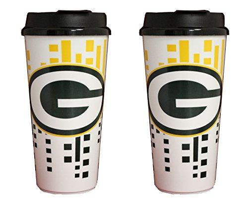 NFL Green Bay Packers 32oz Single Wall Travel Mug 2 pack