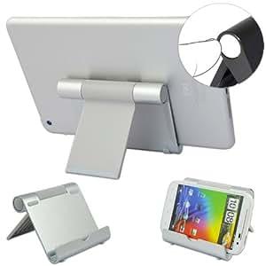 No1accessory plateado multi-ángulos de acero inoxidable pulido con función de atril base de carga para NOOK HD 16 GB Tablet ¨C de humo