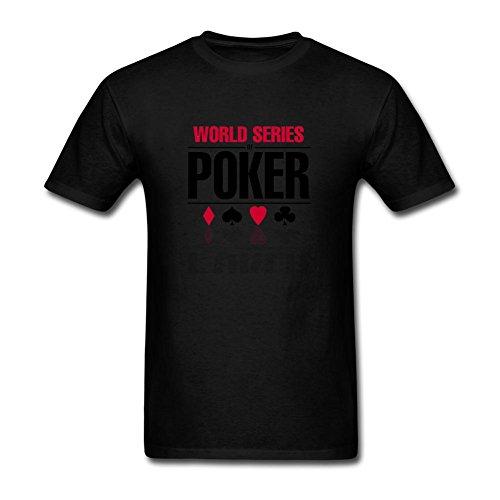 Feixia Men's WSOP World Series of Poker 2016 DIY Cotton Short Sleeve T Shirt (Wsop Poker Shirts)