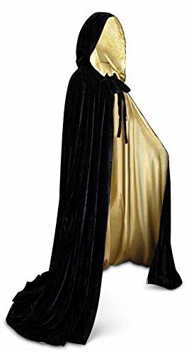 Velvet Renaissance Medieval Cloak Cape lined with Satin (Cloak Renaissance Adult)