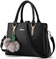 TWOPAGES Top Handle Satchel Handbags Girls Messenger Bag for Women Purse Tote Bag