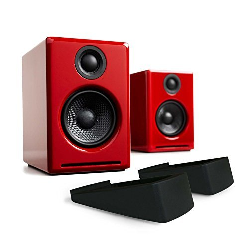 春早割 Audioengine A2+ Limited Edition Audioengine Premium Powered (Red) Desktop Speaker Package Package (Red) With DS1 Desktop Speaker Stands [並行輸入品] B073VDW8BL, うまめの木:757fe08f --- arbimovel.dominiotemporario.com
