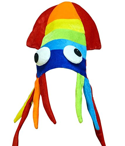 Squid Hat - Squid Costume - Party Hats for Adults - Sea Animal Hats - Costume Hats by Funny Party -