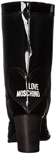Boot Women's Rainboot Black Rain Love Space Moschino wAn6OpqxH