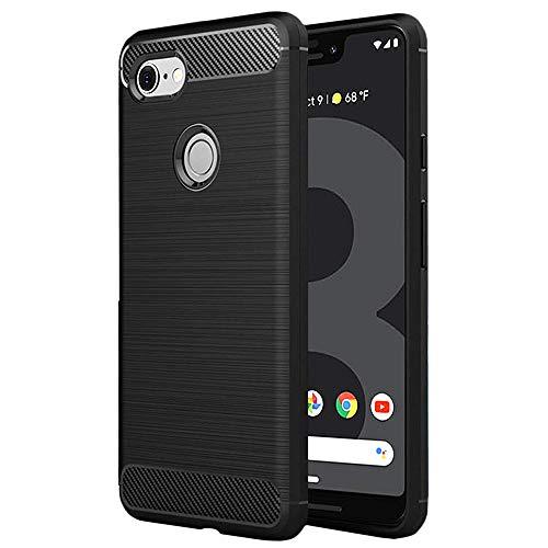 HiZiTi Google Pixel 3 XL Case, Thin Ultra-Slim Fit Matte Finish Flexible TPU Phone Case Cover Compatible for Google Pixel 3 XL - Black