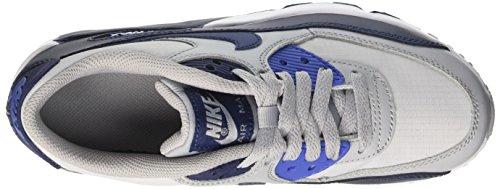 Nike Air Max 90 Mesh GS, Scarpe da Ginnastica Bambino Multicolore (Wolf Grey/Binary Blue-comet Blue-white)