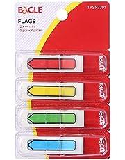 Eagle Page Marcadores/banderas con dispensador en marcha, material de PET, flecha impresa, colores surtidos, 0,47 × 1,7 pulgadas, 35/dispensador, 4 dispensadores/paquete, total 140 unidades