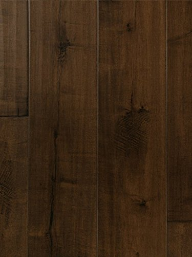 Adobe Maple Wood Flooring Hand Scraped Durable Strong Wear