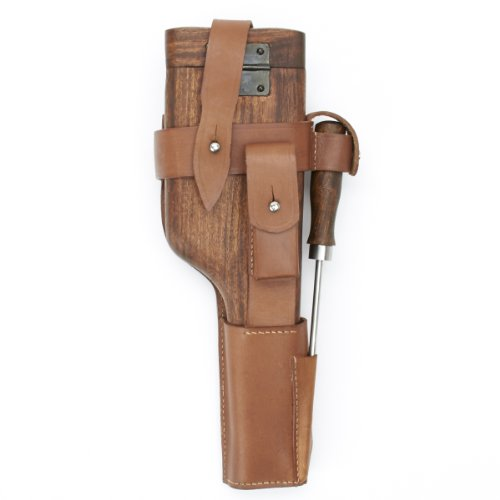 German WWII C-96 Wood Butt Stock and Holster Set, C96 (German Mauser Broomhandle Leather Holster And Stock)