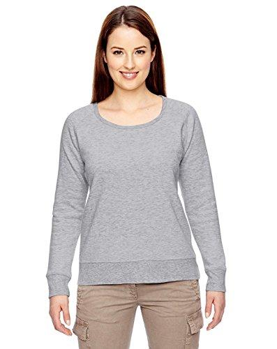 econscious Womens 7 Oz. Organic/Recycled Heathered Fleece Raglan Pullover (EC4505)- Athletic Gray,Medium