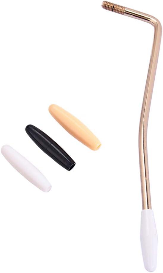 SUPVOX - Mango de manivela de brazo de manivela para guitarra eléctrica de 5 mm con 3 puntas para Fender Strats Accesorios de instrumento de guitarra, metal, dorado, S