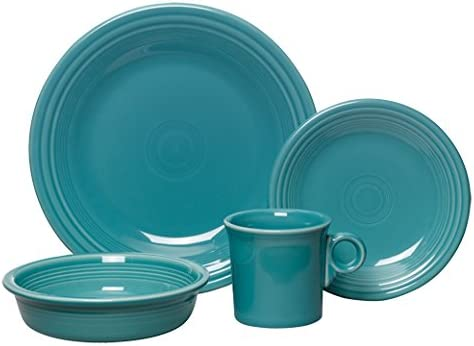 Fiesta 4-Piece Place Setting, Turquoise