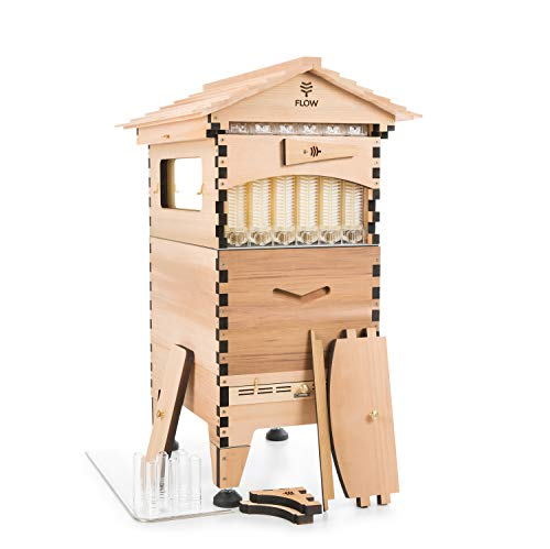 (Official Flow Hive 2 Cedar 6 Frame - Langstroth Style Beehive Featuring Our Patented Flow Tech, Suitable for Beginners & Experienced Beekeepers)