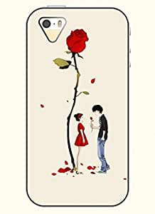 OOFIT Phone Case design with Boy's Confession-Red Rose for Apple iPhone 5 5s 5g