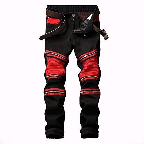 De Moda Algodón Hombres Slim Fit Alta Clásico De Chicos Cómodo Pantalones Vaqueros Elástico Cómodo Rectos Colour Ssig Los Jeans Pantalones z46Y0