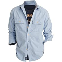 Abercrombie & Fitch Men's Chamois Shirt Button Down Shirt