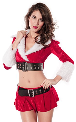 Black Friday PEGGYNCO Christmas Womens Dress Party Customes Miniskirts One Size (Jovi Elf Costume)