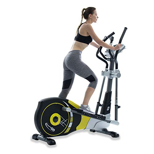"V-450X Standard Stride 18"" Programmable Elliptical Exercise Cross Trainer with Adjustable Arms and Pedals and HRC Control Program for Cardio Fitness Strength Conditioning Workout at Home or Gym"
