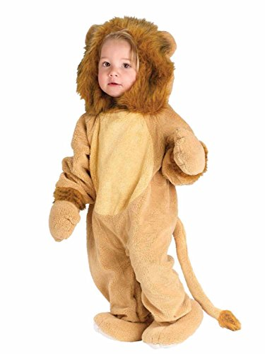 Fun World Infant Boys & Girls Lion Costume Plush Baby Cat Suit 0-6m Orange -