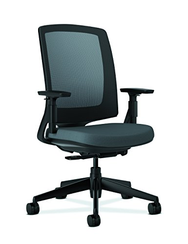hon lota office chair mid back mesh desk chair or conference room chair charcoal h2281