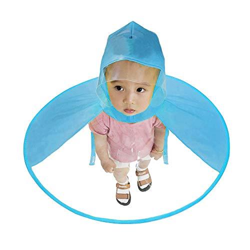 2d4159c3f642d Kids Raincoat Children Rain Ponchos Child Blue Raincoat Foldable Hooded  Cloak Umbrella (Small)