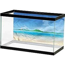 homecoco PVC Aquarium Decorative Tropical,Exotic Island Vacation Various Patterns