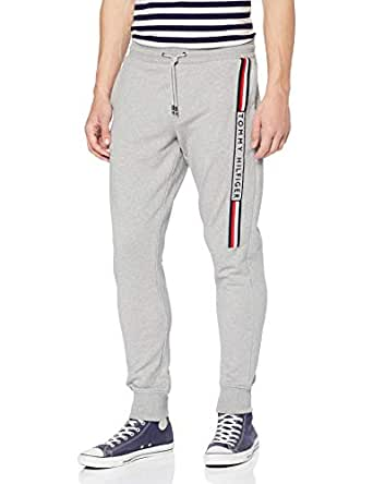 Tommy Hilifiger Men's Classic Logo Print Joggers, Cloud Heather, Small
