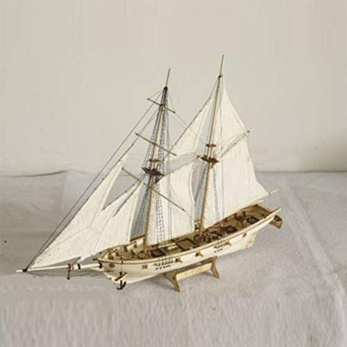 DestinyBliss 1:120 DIY Ship Assembly Model Kits Classical Wooden Sailing Boat Scale Model Decoration 410x60x400mm (Large Sailing Ship)