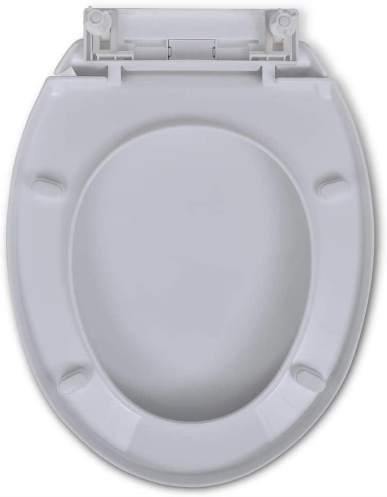Festnight Tapas de WC Tapa Inodoro Asientos para Inodoro con Funci/ón de Cierre Suave 2 uds MDF Blanco Pl/ástico