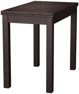Ikea BJURSTA - Mesa Extensible, Brown-Black - 50/70/90 x 90 cm ...