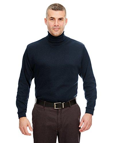 Turtleneck Interlock Cotton Mens (A Product of UltraClub Adult Egyptian Interlock Long-Sleeve Turtleneck -Bulk Di)