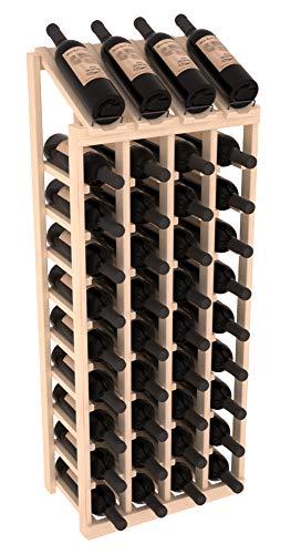 (Wine Racks America Ponderosa Pine 4 Column 10 Row Display Top Kit. Unstained )
