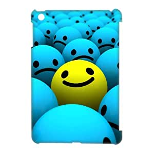 DIYCASESTORE Best Quality Diy iPad Mini 3D Case Smiley Face 3D Bumper Plastic Customized Case WE189039