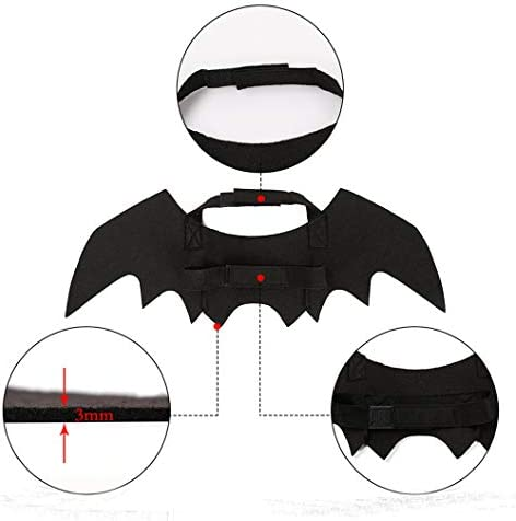 atimier Halloween Pet Bat Wings Cat Dog Bat Costume Pet Dog Bat Wings 24