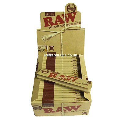 Price comparison product image Raw King Size Slim Organic Hemp Rolling Papers 10 packs