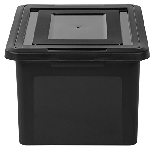 Office Depot(R) Brand Letter And Legal File Tote, 18in.L x 14 1/4in.W x 10 7/8in.H, Black