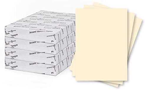 1 Ream // 250 Sheets 216 gsm Heavy Cardstock with Super Smooth Finish 8.5 x 11 card stock 80lb Cover Accent Opaque Cream Colored Cardstock Paper 121978R