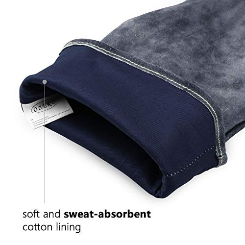 Ozero piel barbacoa barbacoa guantes, 932 °F resistente al calor extremo horno parrilla estufa chimenea soldadura guantes de cocina guantes con 16 pulgadas ...