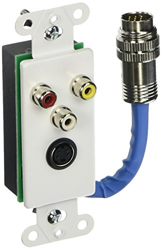 (C2G/Cables to Go 40743 RapidRun SVideo and Composite Video and Stereo Audio Wall Plate (White))