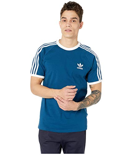 (adidas Originals Men's 3-Stripes Tee, Legend Marine,)
