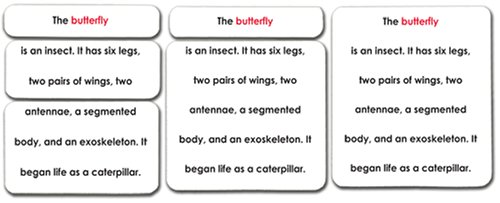 'Parts of' Invertebrates Definition Card Set of 5 (Butterfly/Insect, Lobster/Crustacean, Snail/Mollusk, Spider/Arachnid, and Starfish/Echinoderm)