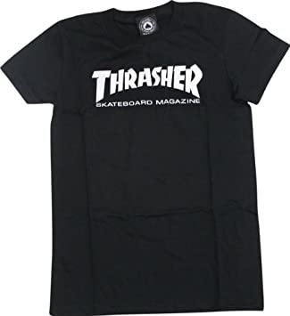 Amazon.com : Thrasher Mag Logo Girls T-Shirt [Large] Black ...