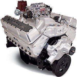 Edelbrock Crate Engine Performer - Edelbrock 46410 Performer 363 Hi-Torq Crate Engine 9.0:1 Compression 353HP/405Torque PerformerEPSVortecManifold/750 CFM Performer Series Carb Elec.Choke w/Short Water Pump PN[8810] Satin Performer 363 Hi-Torq Crate Engine