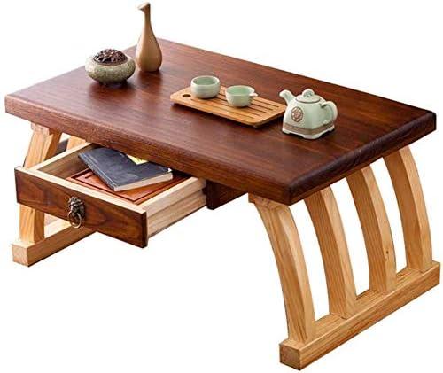Selected Furniture/Mesa de café de Cama Mesas Bajas Tabla Tatami Café Mirador Mesa con Mesa