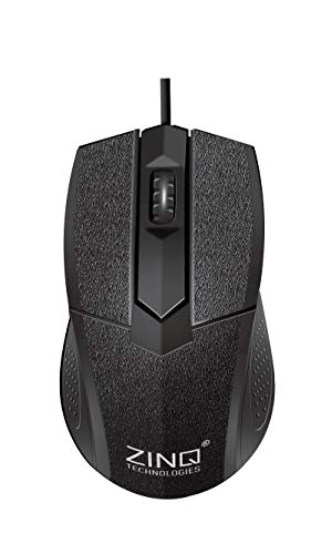 Zinq Technologies ZQ233 Wired Mouse with 1000DPI, 10 Million Clicks Lifespan for Laptop and Desktop (Black)