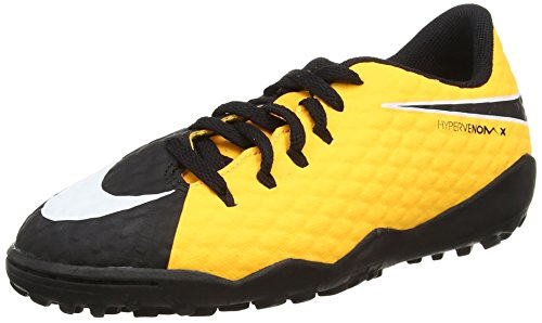 Nike Unisex-Kinder Jr. Hypervenomx Phelon Iii Tf Fußballschuhe Orange (Laser Orange/black-black-volt)