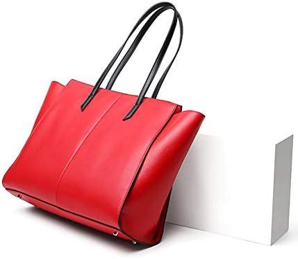 SM&M Borsa Pelle Grande Donna - Borsa Tracolla Borsa Donna Elegante Borsetta Tracolla Borsa Tote Borsetta Vintage Viaggio Donna(Rosso, Nero, Blu),Red