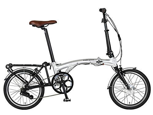 해리 퀸(HARRY QUINN) PORTABLE 3단 접이&접이식 어시스트 자전거 스카치(scotch) 블라이트 실버 16인치 오르는 쓰러뜨리는 운반한 새로운 형태 3모드 변환 88210-0999