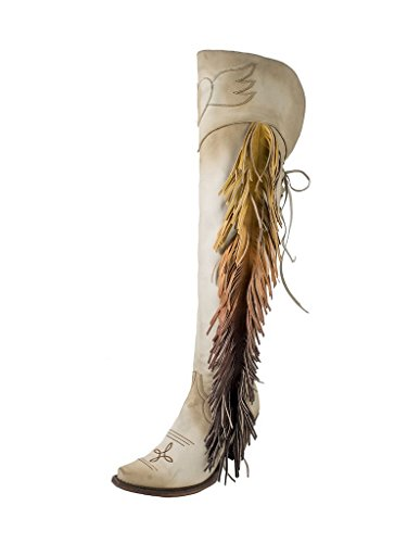 Junk Gypsy Women's by Lane Spirit Animal Tall Boot Snip Toe Cream 8 M (Gypsy Boots)