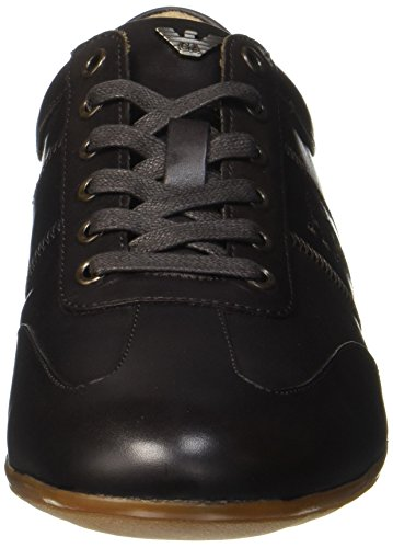 Low Armani Sneaker Brown Uomo Dark Marrone Cut 04552 After 4vvHqwdrx